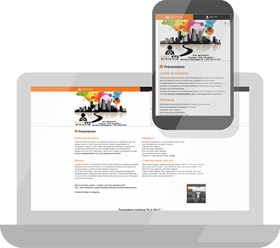 Création site one page responsive design pour Easy VTC